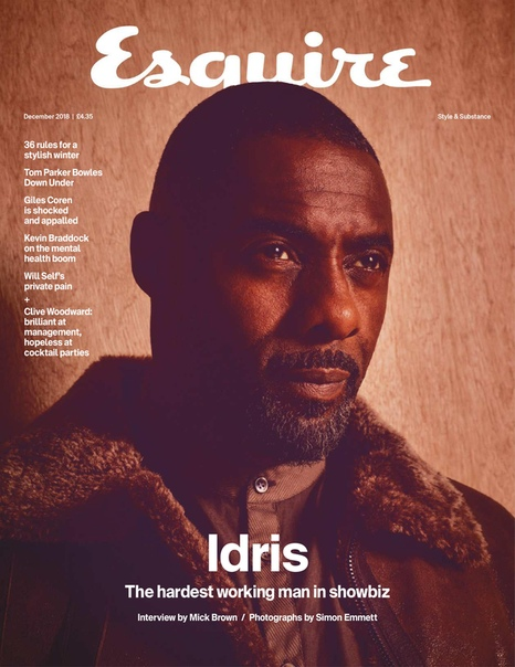 Idris Elba Esquire UK, December 2018